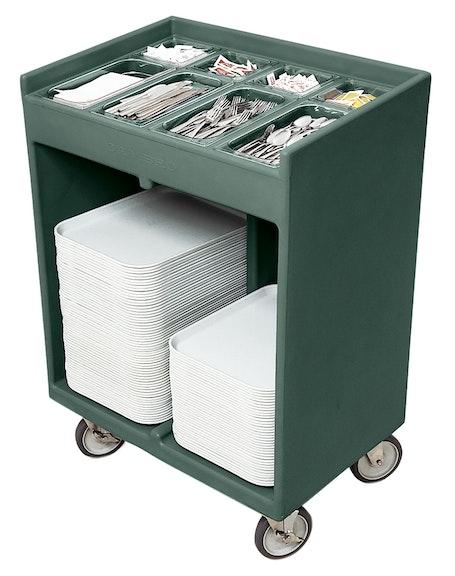 TC1418192 Granite Green Tray & Silverware Cart