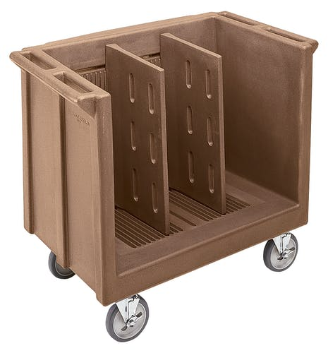 TDC30157 Coffee Beige Adjustable Tray & Dish Cart