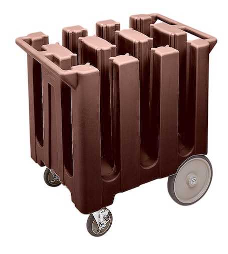 DC575131 Dark Brown Poker Chip Style Dish Caddy