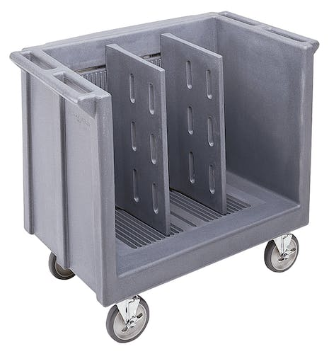 TDC30191 Granite Gray Adjustable Tray & Dish Cart