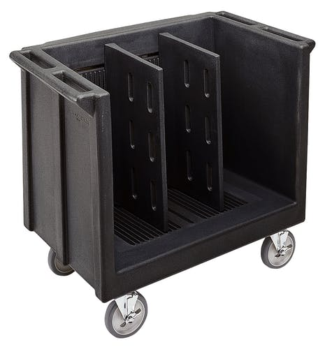 TDC30110 Black Adjustable Tray & Dish Cart