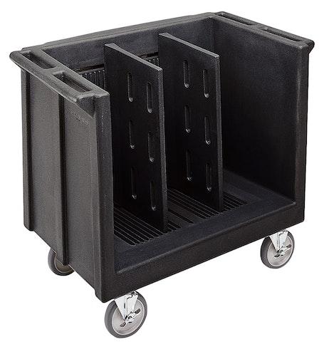 TDC30110 Black Adjustable Tray & Dish Cart