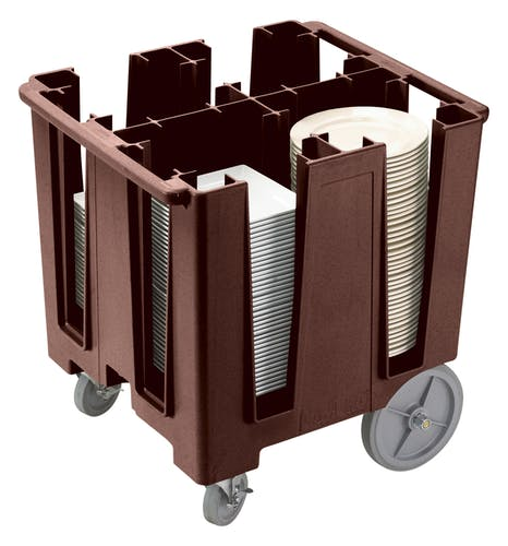 DCS1125131 Dark Brown Versa 4-Column Dish Caddy