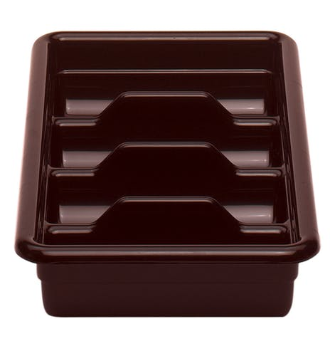 1120CBR131 Dark Brown Regal 4-Compartment Cutlery Box