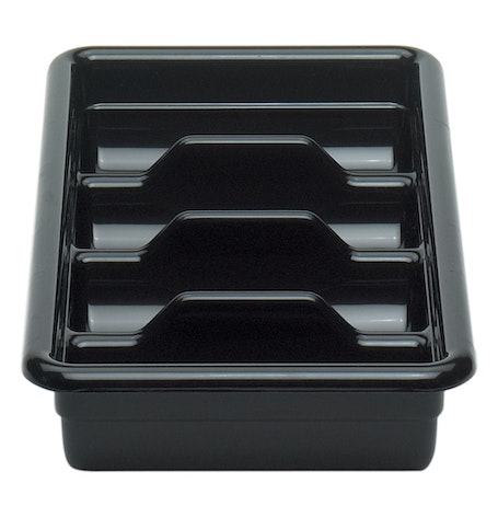 1120CBR110 Black Regal 4-Compartment Cutlery Box