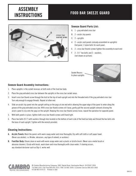 User Manual - Table Top Food Bar
