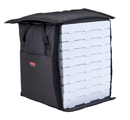GBP1018110 Black Pizza GoBag - 10 Pizza Box Capacity w/ Bag Open
