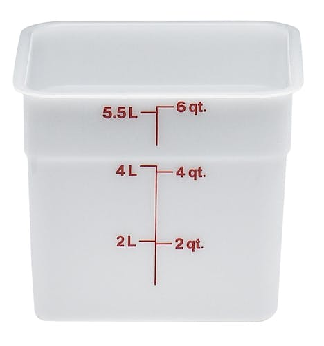 6SFSP148 6 QT Poly White Storage Container