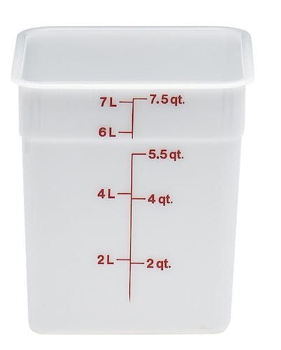 8SFSP148 8 QT Poly White Storage Container