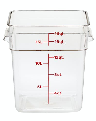 18SFSCW135 18 QT Clear Camwear Storage Container