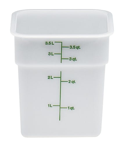 4SFSP148 4 QT Poly White Storage Container