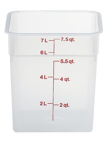 8SFSPP190 8 QT Translucent Storage Container