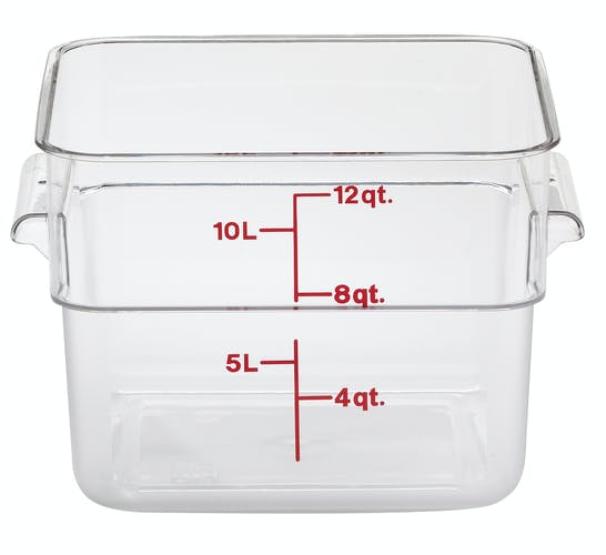 12SFSCW135 12 QT Clear Camwear Storage Container