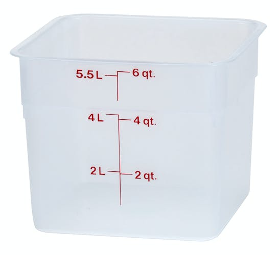 6SFSPP190 6 QT Translucent Storage Container