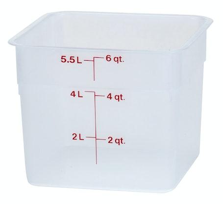 6SFSPP190 6 QT Translucent Storage Container