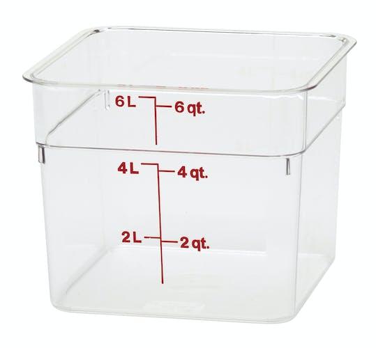 6SFSCW135 6 QT Clear Camwear Storage Container