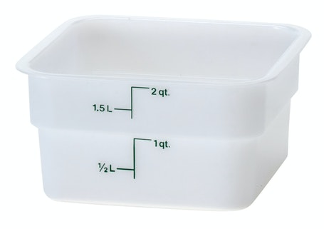 2SFSP148 2 QT Poly White Storage Container
