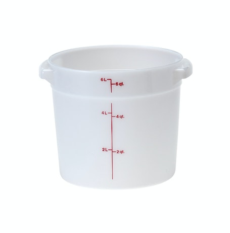 RFS6148 6 QT White Poly Round Container