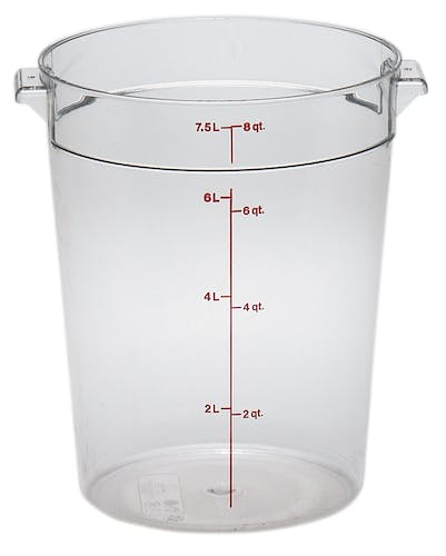 RFSCW8135 Camwear Clear 8 QT Round Container