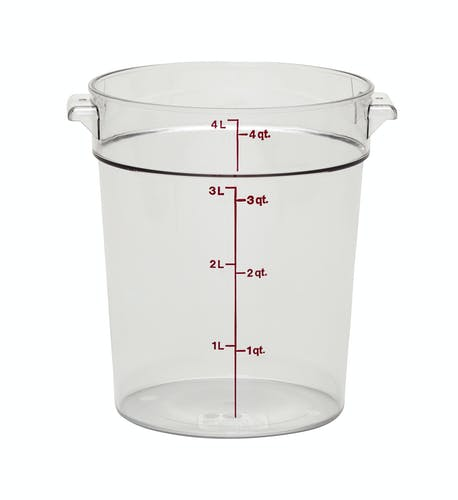 RFSCW4135 Camwear Clear 4 QT Round Container