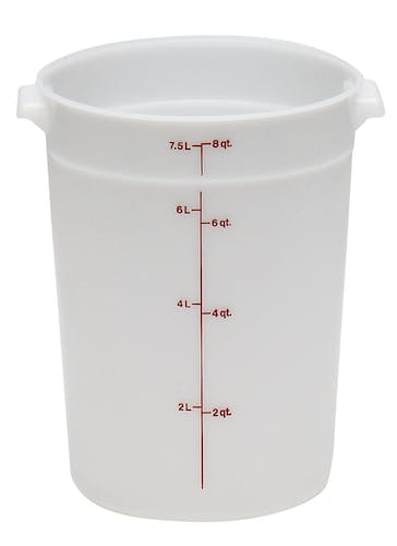RFS8148 8 QT White Poly Round Container