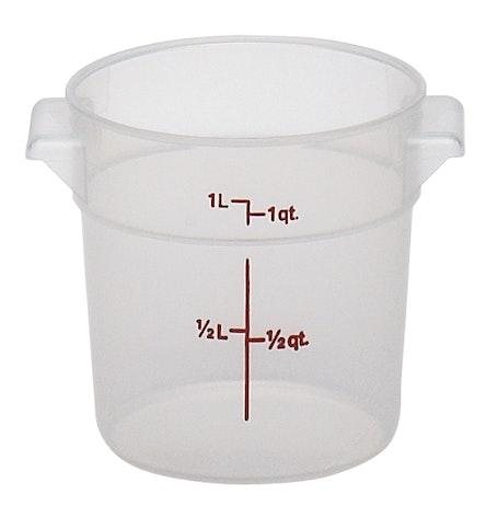 RFS1PP190 1 QT Translucent Round Container
