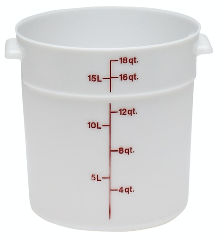 RFS18148 18 QT White Poly Round Container