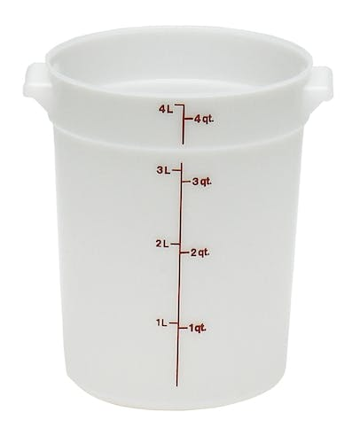 RFS4148 4 QT White Poly Round Container