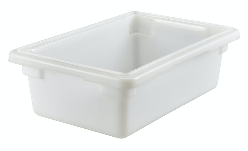 12186P148 3 Gal White Poly Food Storage Box