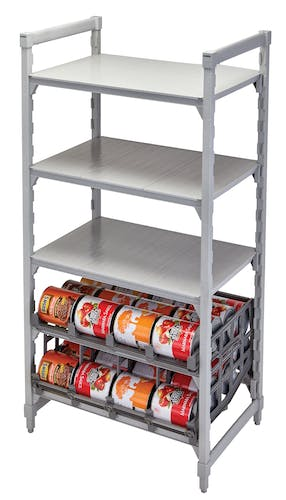 UCR10R8580 Single Can Rack on Shelving w Cans