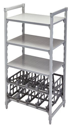 UCR10R8580 Single Can Rack on Shelving