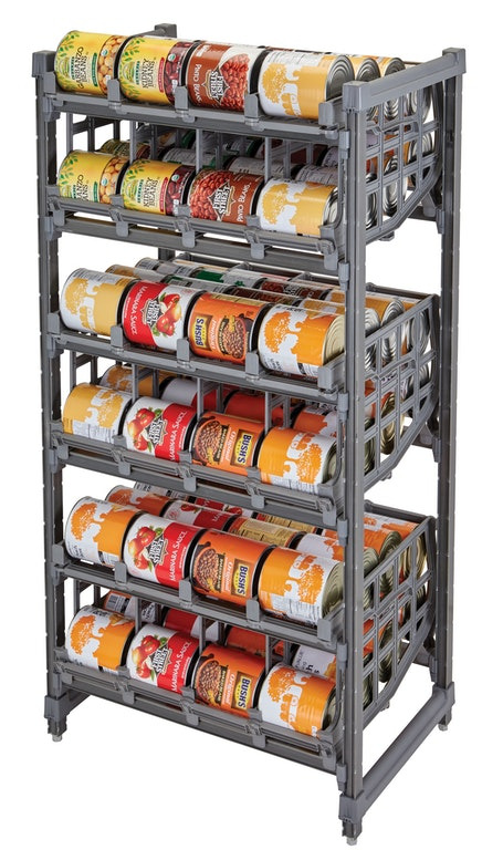 ESU243672C96580 Elements Full-Size Stationary Can Rack w Cans