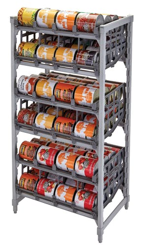 CPU243672C96480 Premium Full-Size Stationary Can Rack w Cans