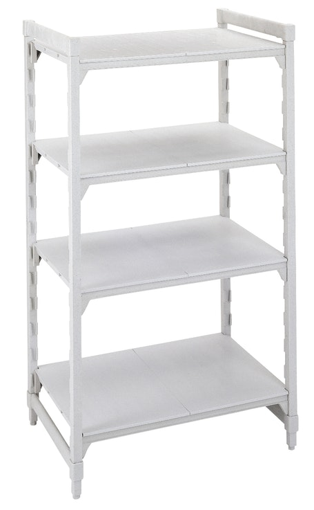 Stationary Starter Unit with Solid Shelves