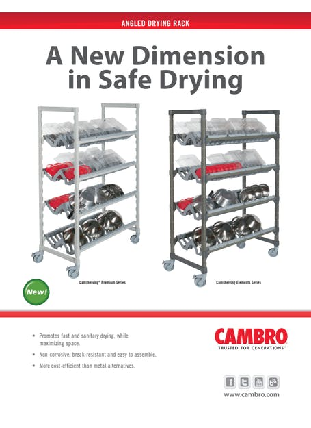 SPEC - Camshelving Angled Drying Rack Spec Sheet