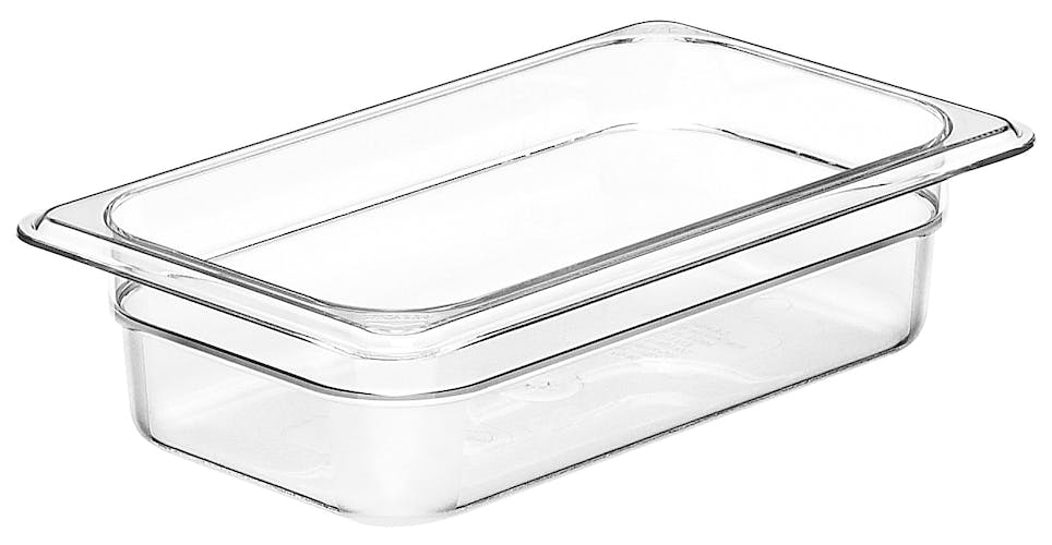 "42CW135 Camwear 2.5"" Quarter Size Clear Food Pan"