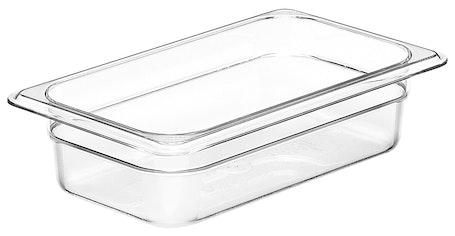 "42CW135 Camwear 2.5"" Quarter Size Clear Food Pan"