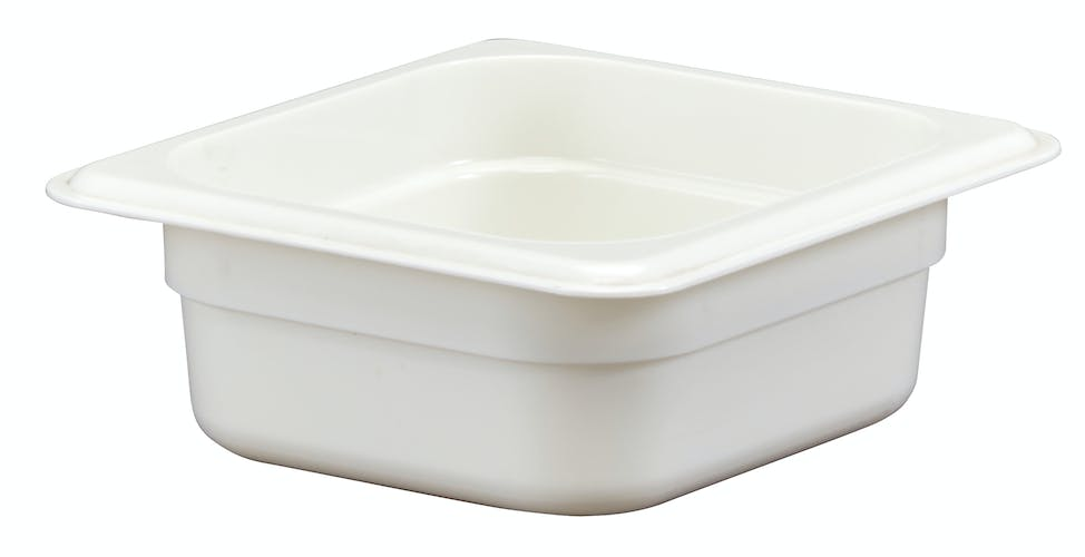 "62CW148 Camwear 2.5"" Sixth Size White Food Pan"