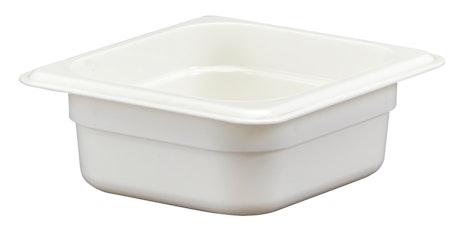 "62CW148 Camwear 2.5"" Sixth Size White Food Pan"