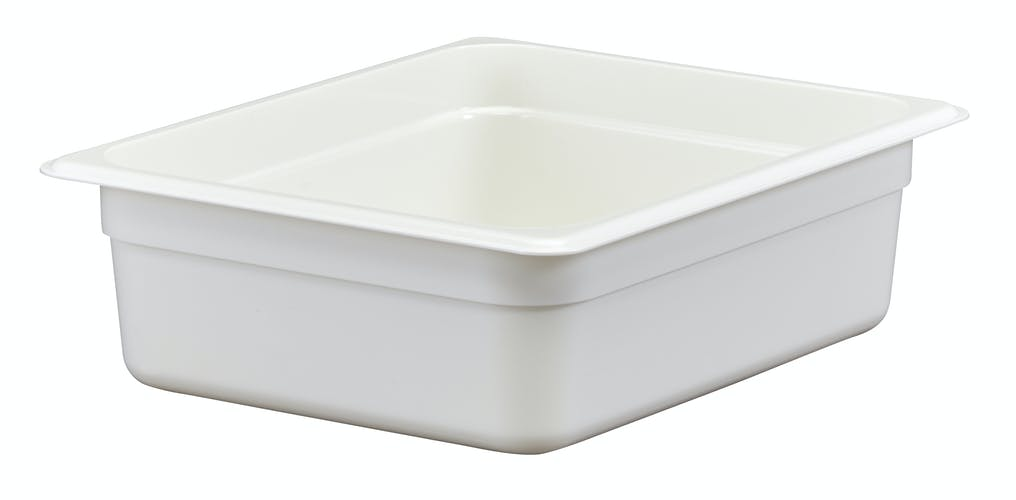 24CW148 Camwear White 1/2 Size Food Pan