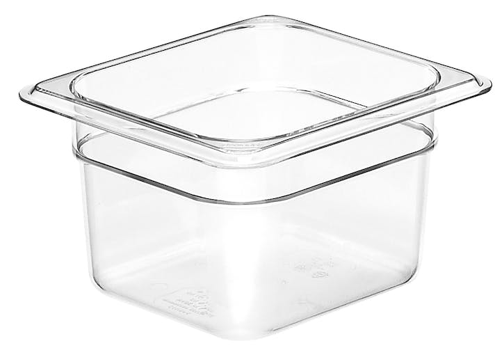 "64CW135 Camwear 4"" Sixth Size Clear Food Pan"