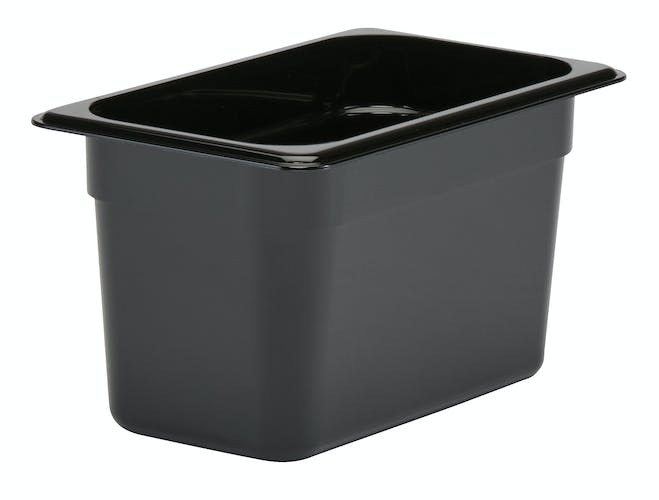 "46CW110 Camwear 6"" Quarter Size Black Food Pan"