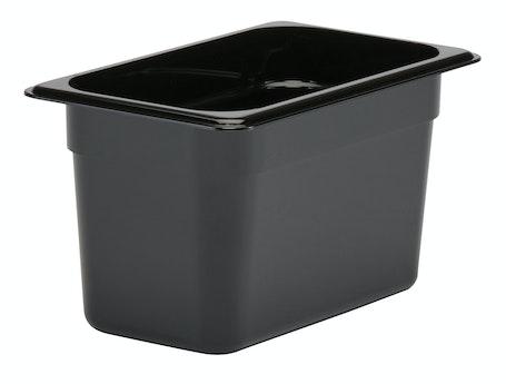 "46CW110 Camwear 6"" Quarter Size Black Food Pan"