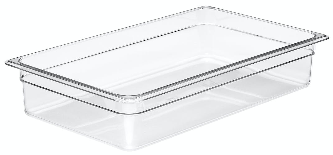 "14CW135 Camwear 4"" Full Size Clear Food Pan"