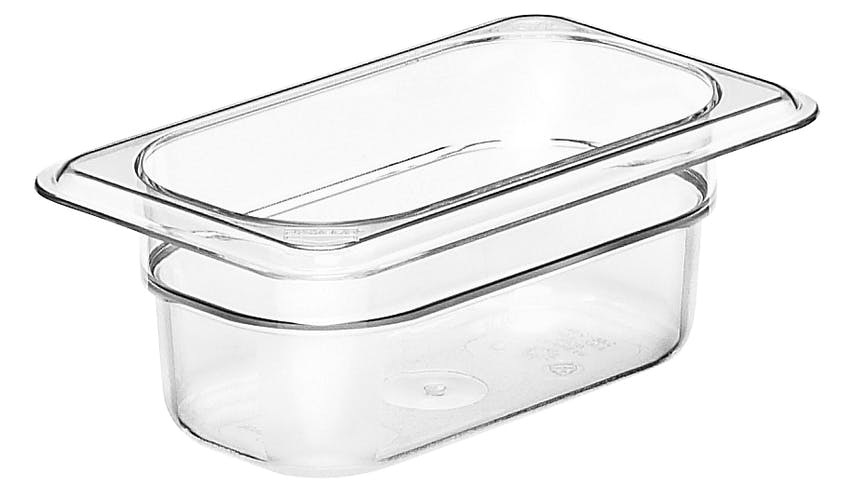 "92CW135 Camwear 2.5"" Ninth Size Clear Food Pan"