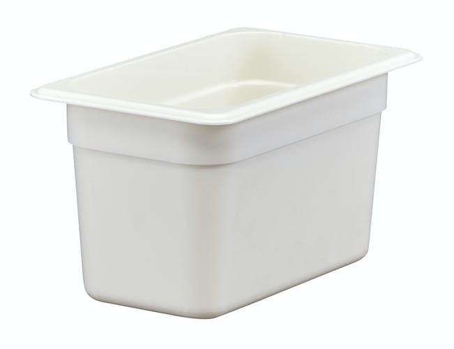"46CW148 Camwear 6"" Quarter Size White Food Pan"