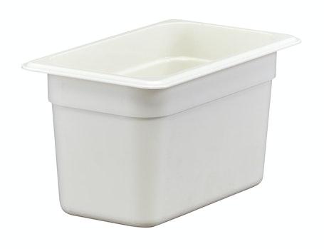 "46CW148 Camwear 6"" Quarter Size White Food Pan"