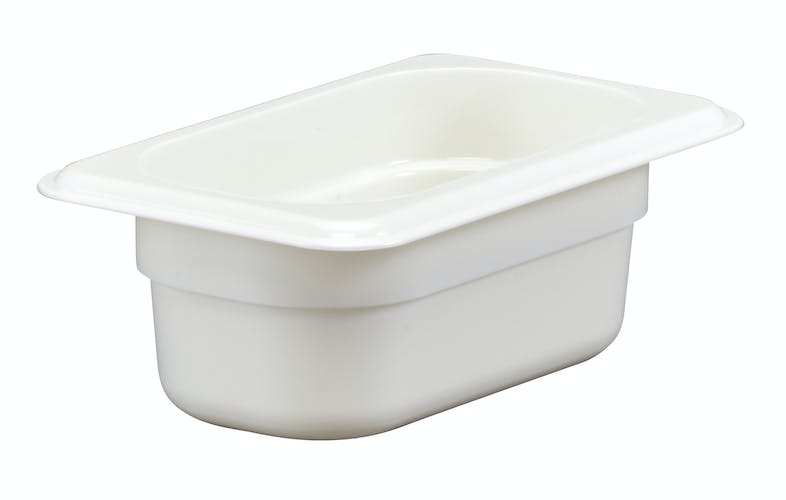 "92CW148 Camwear 2.5"" Ninth Size White Food Pan"