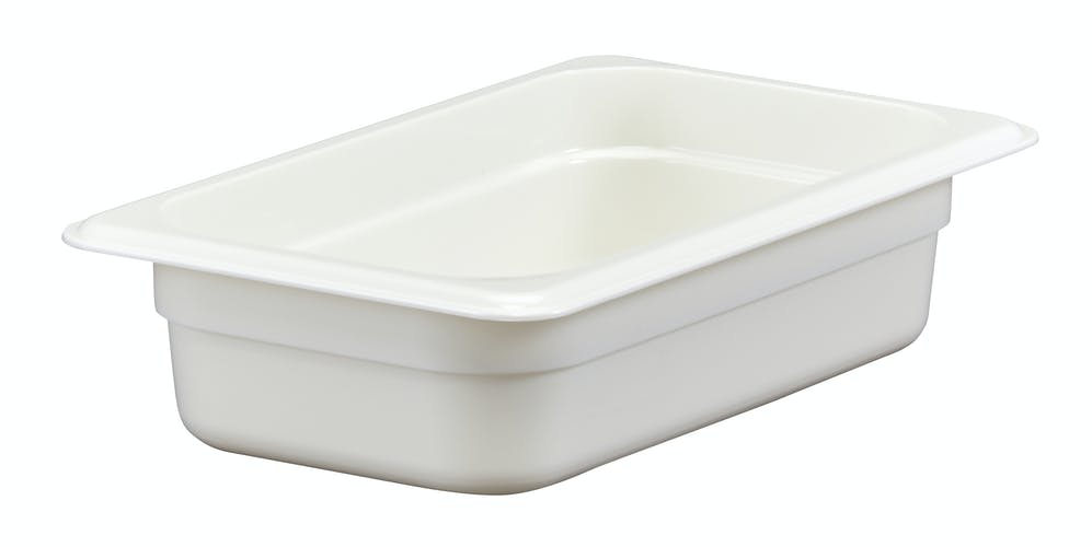 "42CW148 Camwear 2.5"" Quarter Size White Food Pan"