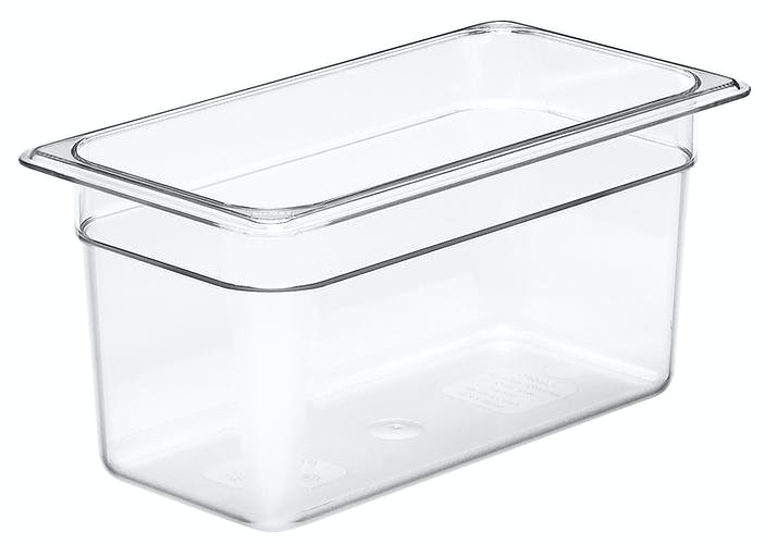 "36CW135 Camwear 6"" Third Size Clear Food Pan"